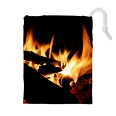 Bonfire Wood Night Hot Flame Heat Drawstring Pouches (extra Large)