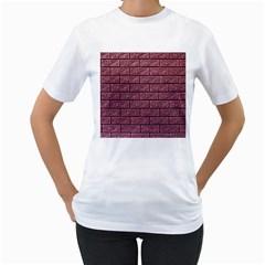 Brick Wall Brick Wall Women s T Shirt (white) (two Sided)