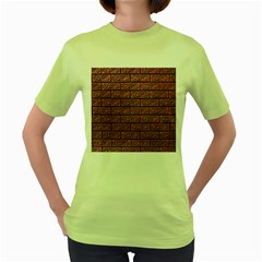 Brick Wall Brick Wall Women s Green T-Shirt