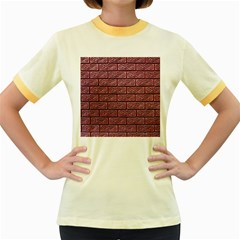 Brick Wall Brick Wall Women s Fitted Ringer T-Shirts
