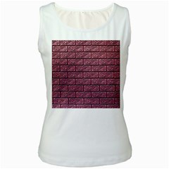 Brick Wall Brick Wall Women s White Tank Top