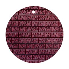 Brick Wall Brick Wall Round Ornament (Two Sides)