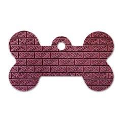 Brick Wall Brick Wall Dog Tag Bone (One Side)