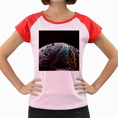 Bubble Iridescent Soap Bubble Women s Cap Sleeve T Shirt