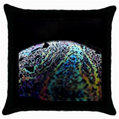 Bubble Iridescent Soap Bubble Throw Pillow Case (black)