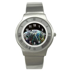 Bubble Iridescent Soap Bubble Stainless Steel Watch