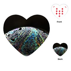 Bubble Iridescent Soap Bubble Playing Cards (heart)