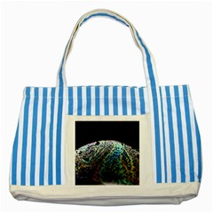 Bubble Iridescent Soap Bubble Striped Blue Tote Bag