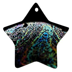 Bubble Iridescent Soap Bubble Star Ornament (two Sides)
