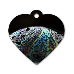 Bubble Iridescent Soap Bubble Dog Tag Heart (one Side)