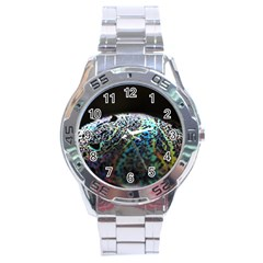 Bubble Iridescent Soap Bubble Stainless Steel Analogue Watch