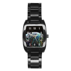 Bubble Iridescent Soap Bubble Stainless Steel Barrel Watch