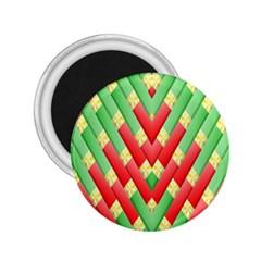 Christmas Geometric 3d Design 2.25  Magnets