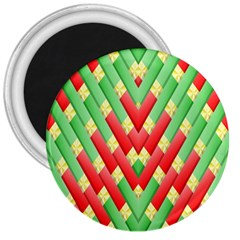 Christmas Geometric 3d Design 3  Magnets