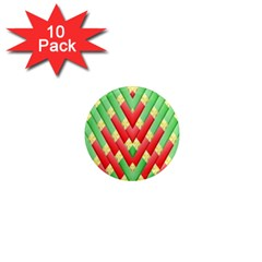 Christmas Geometric 3d Design 1  Mini Magnet (10 Pack)