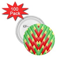 Christmas Geometric 3d Design 1 75  Buttons (100 Pack)