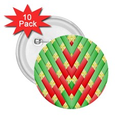 Christmas Geometric 3d Design 2 25  Buttons (10 Pack)