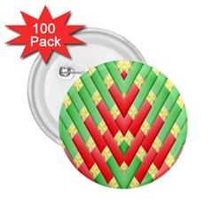 Christmas Geometric 3d Design 2 25  Buttons (100 Pack)