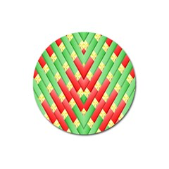 Christmas Geometric 3d Design Magnet 3  (round)
