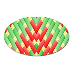 Christmas Geometric 3d Design Oval Magnet
