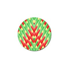 Christmas Geometric 3d Design Golf Ball Marker