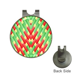 Christmas Geometric 3d Design Hat Clips with Golf Markers