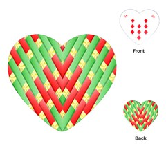 Christmas Geometric 3d Design Playing Cards (heart)