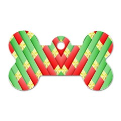 Christmas Geometric 3d Design Dog Tag Bone (one Side)