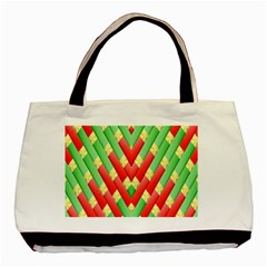 Christmas Geometric 3d Design Basic Tote Bag (two Sides)