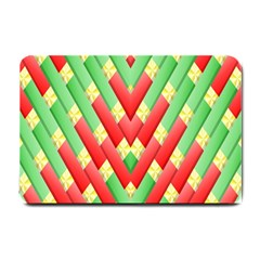 Christmas Geometric 3d Design Small Doormat