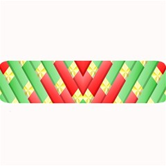 Christmas Geometric 3d Design Large Bar Mats