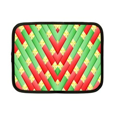 Christmas Geometric 3d Design Netbook Case (small)