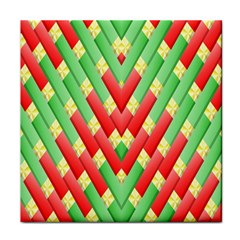Christmas Geometric 3d Design Face Towel