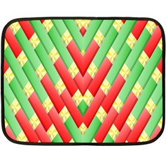 Christmas Geometric 3d Design Fleece Blanket (Mini)