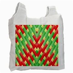 Christmas Geometric 3d Design Recycle Bag (one Side)