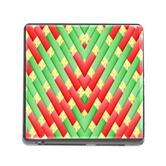 Christmas Geometric 3d Design Memory Card Reader (square)