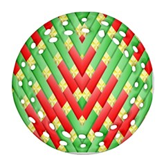 Christmas Geometric 3d Design Ornament (round Filigree)