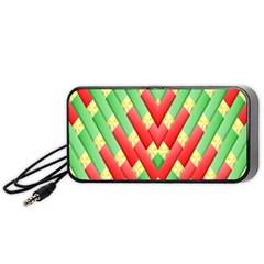 Christmas Geometric 3d Design Portable Speaker (black)