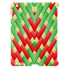 Christmas Geometric 3d Design Apple Ipad 3/4 Hardshell Case (compatible With Smart Cover)