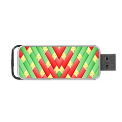 Christmas Geometric 3d Design Portable Usb Flash (one Side)