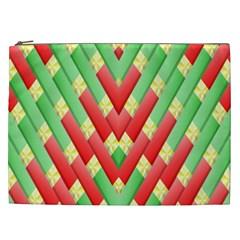 Christmas Geometric 3d Design Cosmetic Bag (xxl)