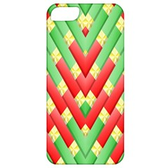 Christmas Geometric 3d Design Apple Iphone 5 Classic Hardshell Case
