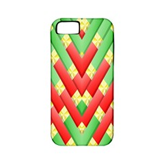 Christmas Geometric 3d Design Apple Iphone 5 Classic Hardshell Case (pc+silicone)