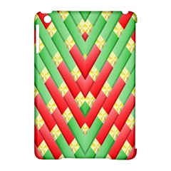 Christmas Geometric 3d Design Apple Ipad Mini Hardshell Case (compatible With Smart Cover)