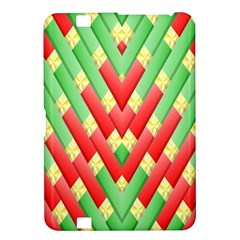 Christmas Geometric 3d Design Kindle Fire Hd 8 9