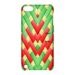 Christmas Geometric 3d Design Apple Ipod Touch 5 Hardshell Case With Stand