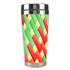 Christmas Geometric 3d Design Stainless Steel Travel Tumblers