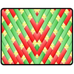 Christmas Geometric 3d Design Double Sided Fleece Blanket (medium)