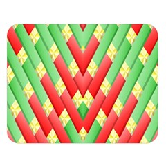 Christmas Geometric 3d Design Double Sided Flano Blanket (large)