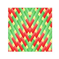 Christmas Geometric 3d Design Small Satin Scarf (square)